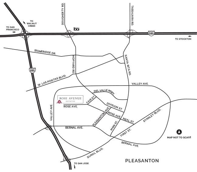 Rose Avenue Estates drive map