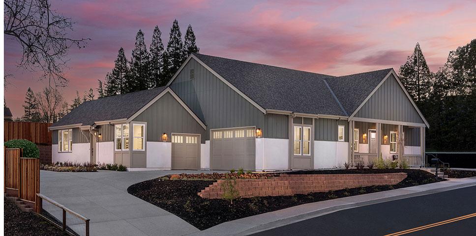 Exterior - Plan 1A - The Reserve at Pleasant Hill - Ponderosa Homes